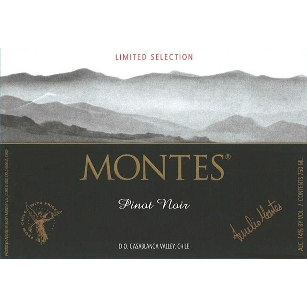 Montes Limited Selection Pinot Noir 2009 Front Label