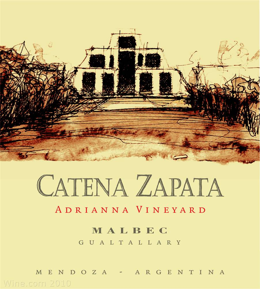 Catena Zapata Adrianna Vineyard Malbec 2006 Front Label