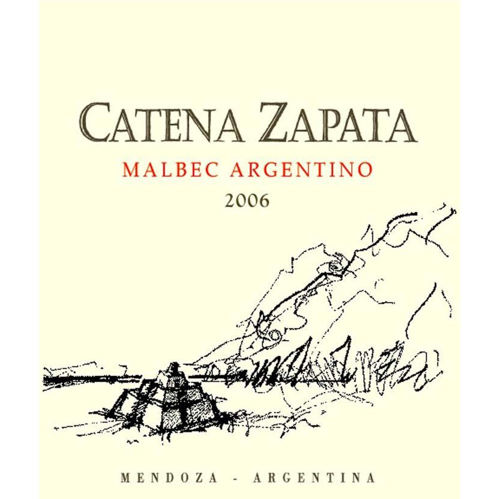 Catena Zapata Argentino Vineyard Malbec 2006 Front Label