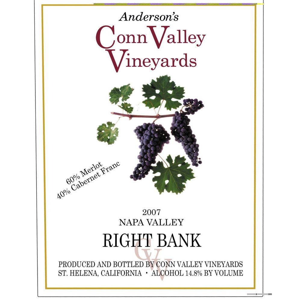 Anderson's Conn Valley Vineyards Right Bank Proprietary Red Blend 2007 Front Label