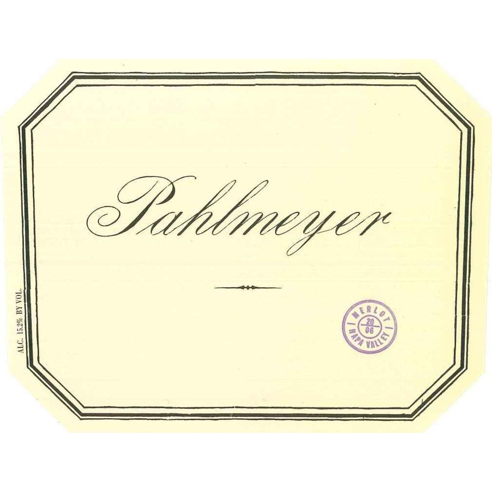 Pahlmeyer Merlot 2007 Front Label