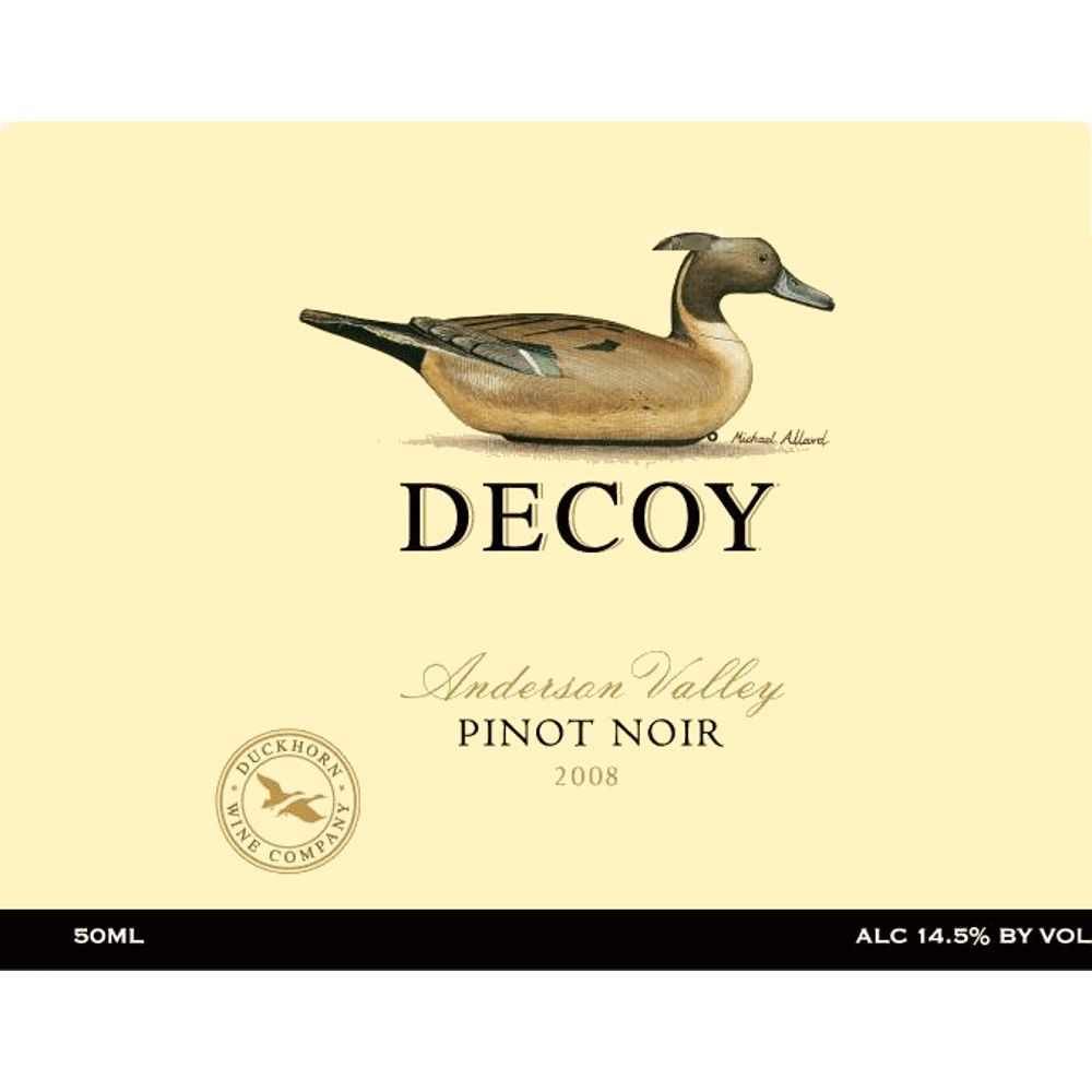 Decoy Anderson Valley Pinot Noir 2008 Front Label