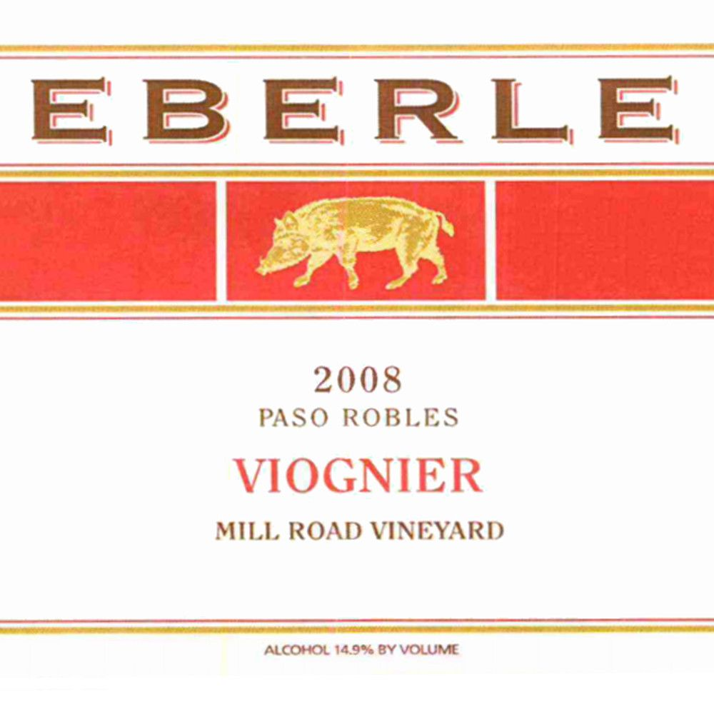 Eberle Mill Road Vineyard Viognier 2008 Front Label