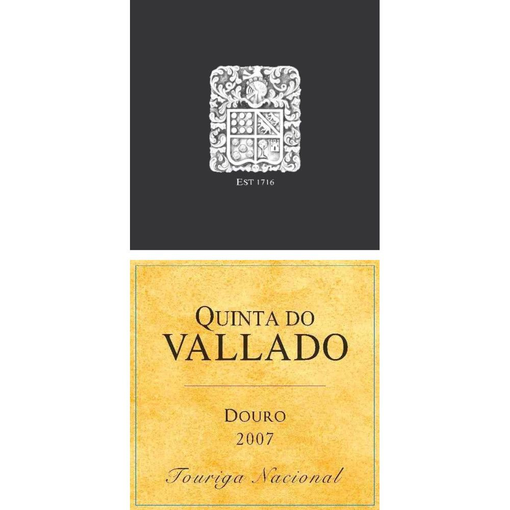 Quinta do Vallado Touriga Nacional Douro 2007 Front Label