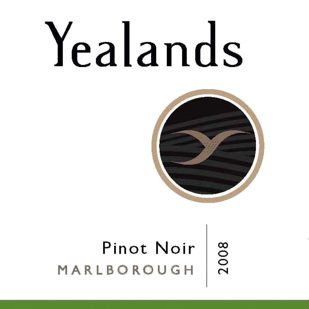 Yealands Pinot Noir 2008 Front Label