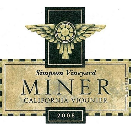 Miner Family Simpson Vineyard Viognier 2008 Front Label