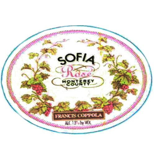 Francis Ford Coppola Sofia Rose 2009 Front Label