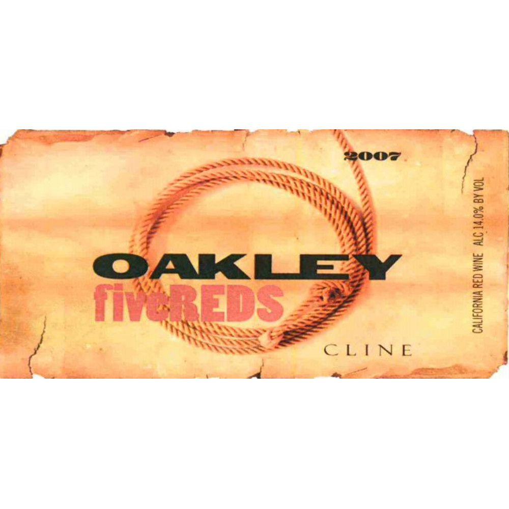 Cline Oakley Five Reds 2007 Front Label