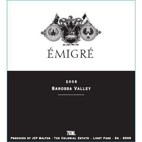 The Colonial Estate Emigre 2006 Front Label