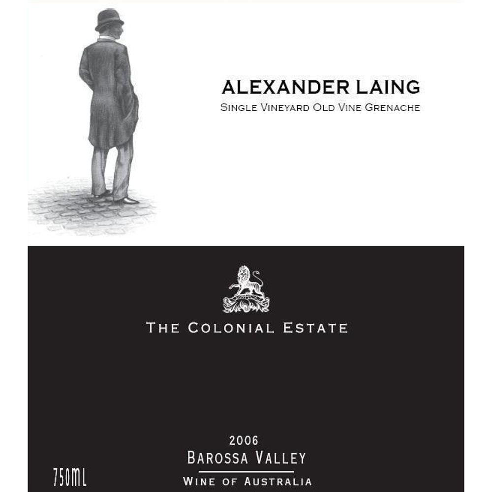 The Colonial Estate Grenache Old Vine Alexander Laing 2006 Front Label