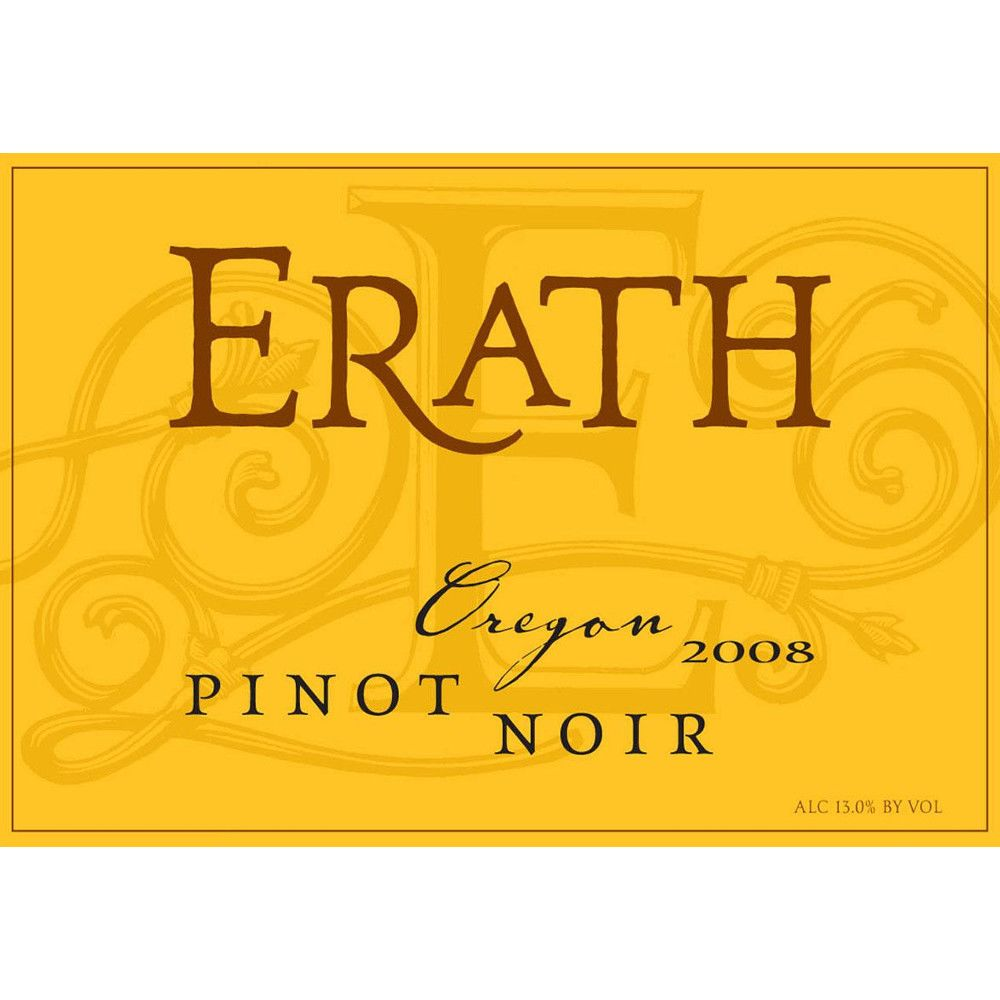 Erath Pinot Noir 2008 Front Label