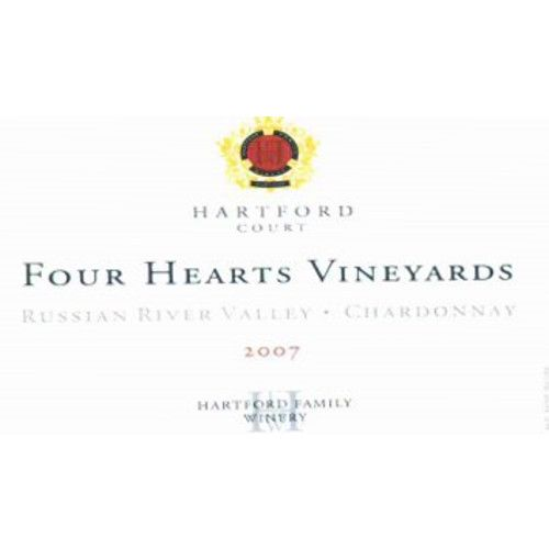 Hartford Court Four Hearts Chardonnay 2007 Front Label