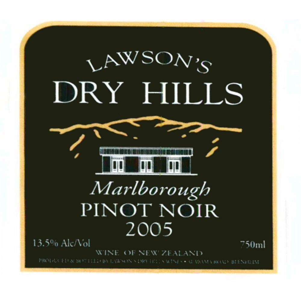 Lawson's Dry Hills Pinot Noir 2005 Front Label