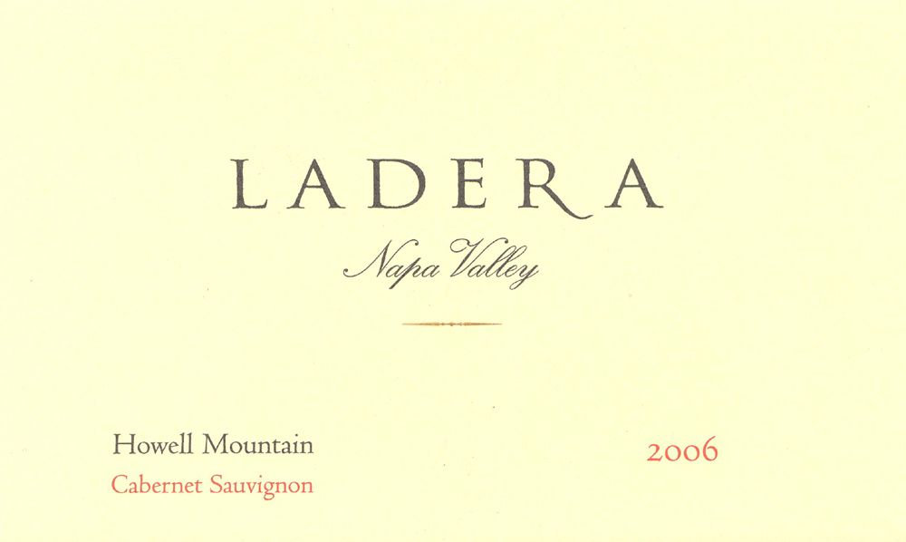 Ladera Howell Mountain Cabernet Sauvignon 2006 Front Label