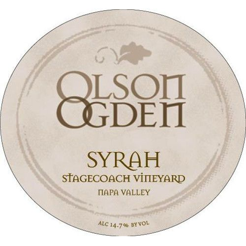 Olson Ogden Stagecoach Syrah 2007 Front Label