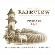 Fairview Pinotage 2008 Front Label