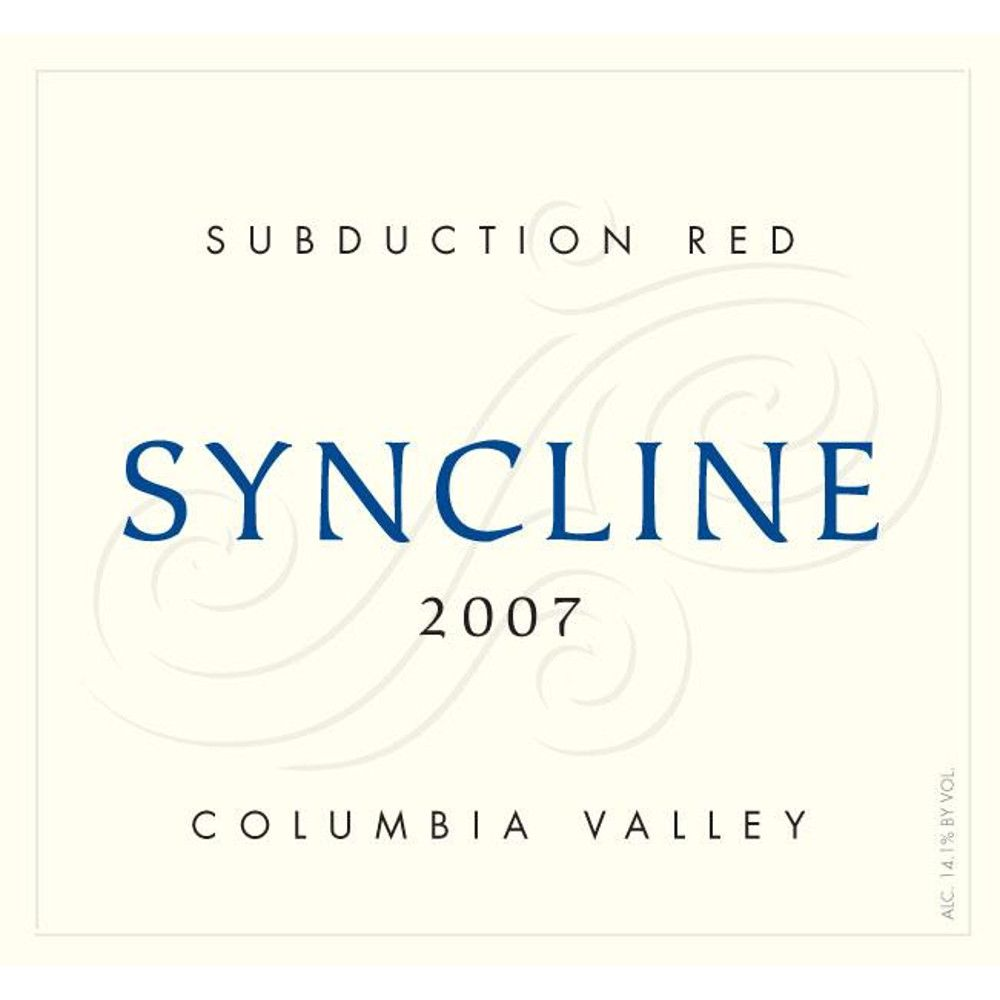 Syncline Subduction Red Blend 2007 Front Label