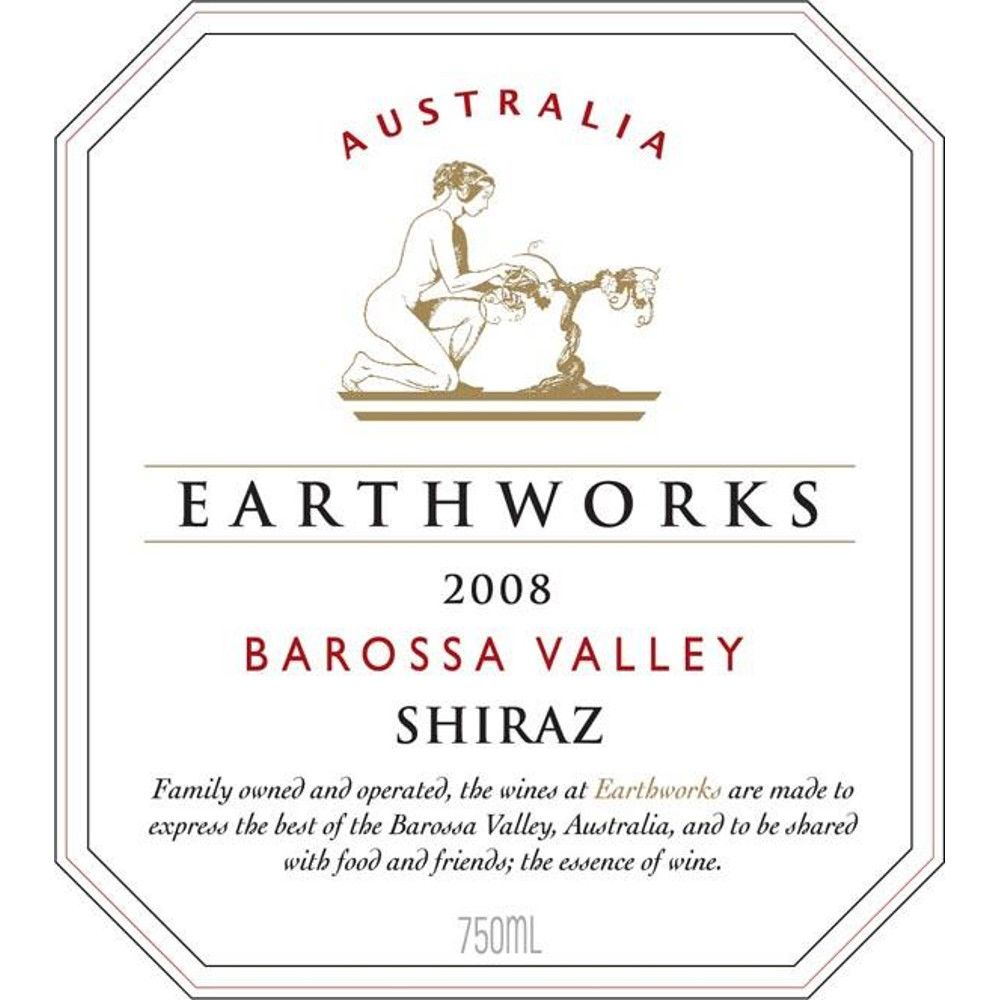 Earthworks Shiraz 2008 Front Label