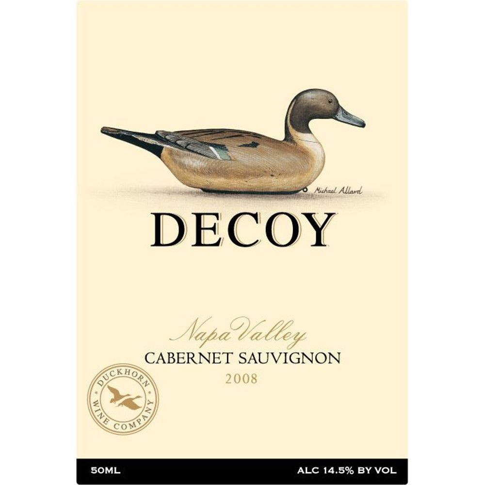 Decoy Napa Valley Cabernet Sauvignon 2008 Front Label