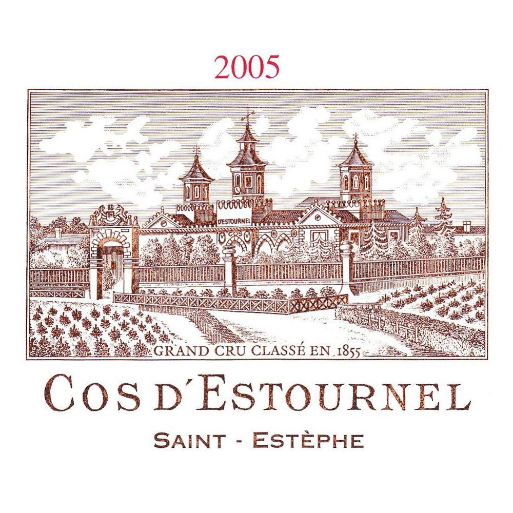 Chateau Cos d'Estournel (375ML half-bottle) 2005 Front Label