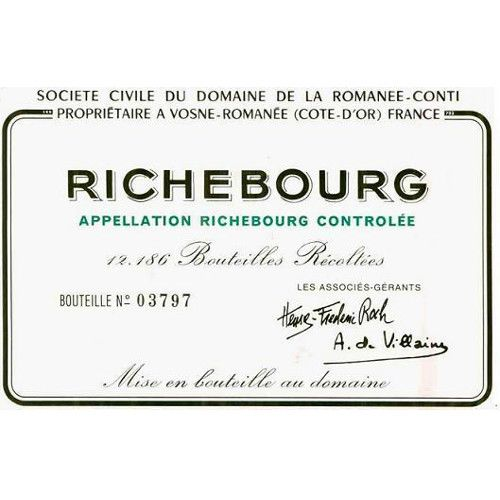 Domaine de la Romanee-Conti Richebourg Grand Cru 2007 Front Label