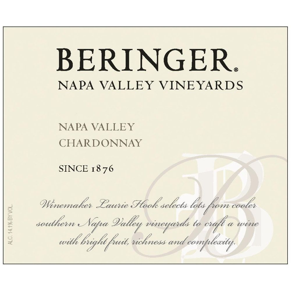 Beringer Napa Valley Chardonnay 2008 Front Label
