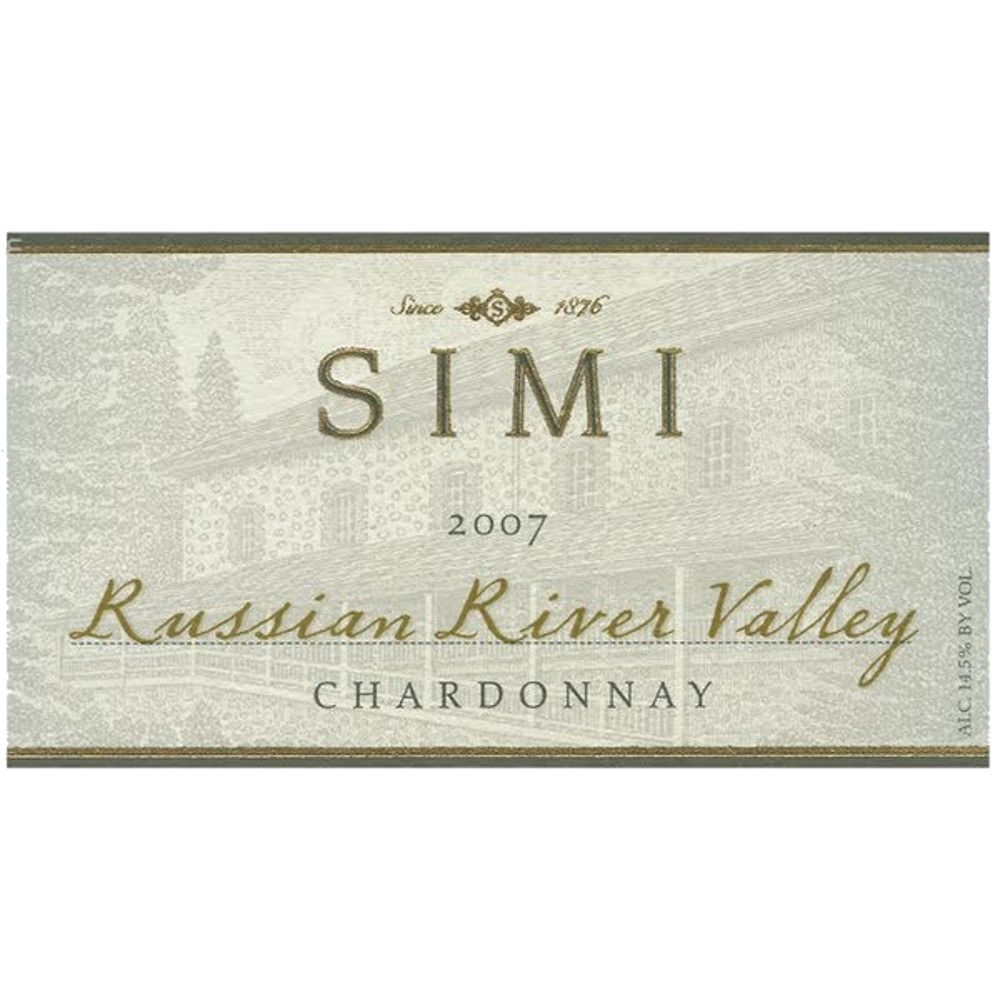 Simi Russian River Chardonnay 2007 Front Label