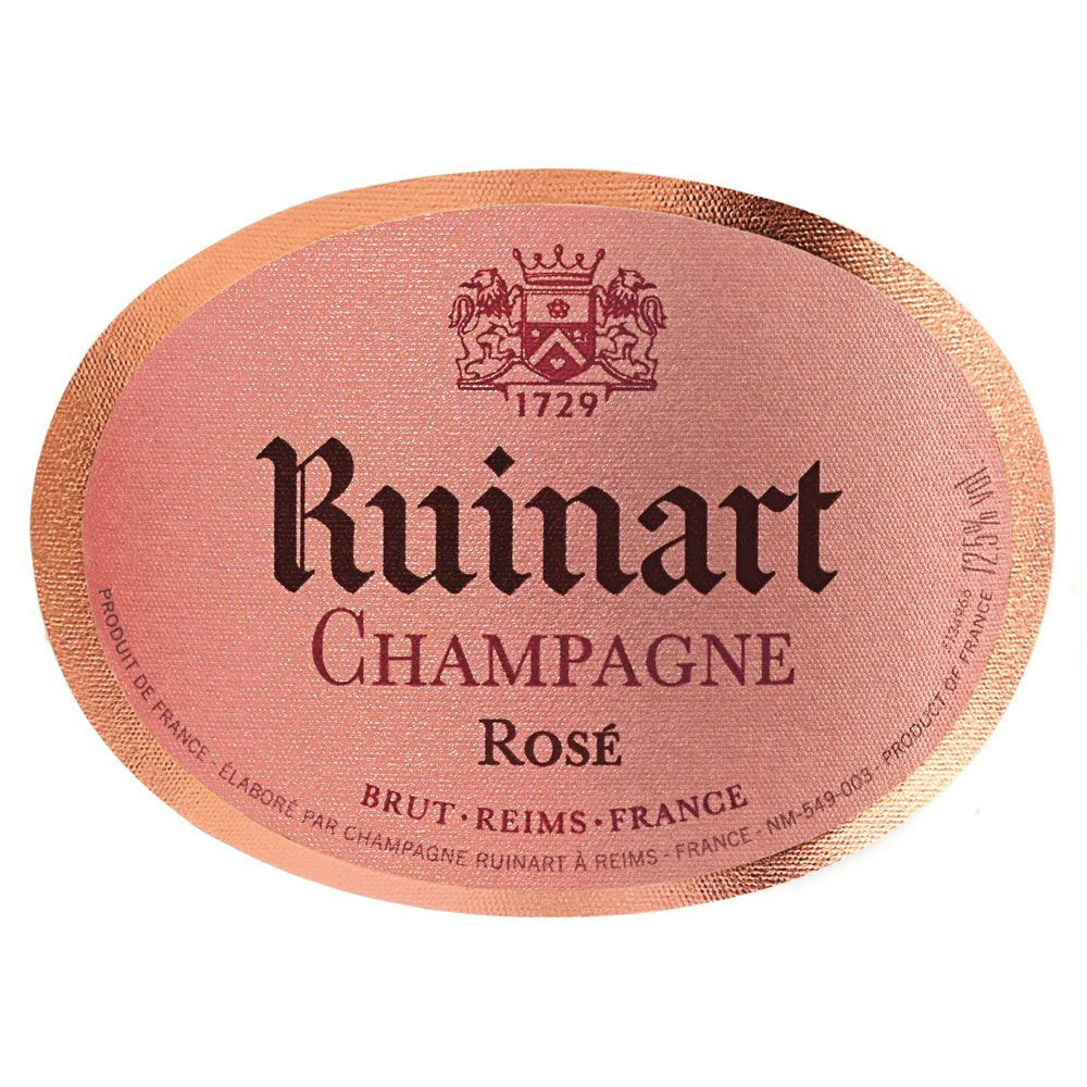 Ruinart Brut Rose (375ML half-bottle) Front Label