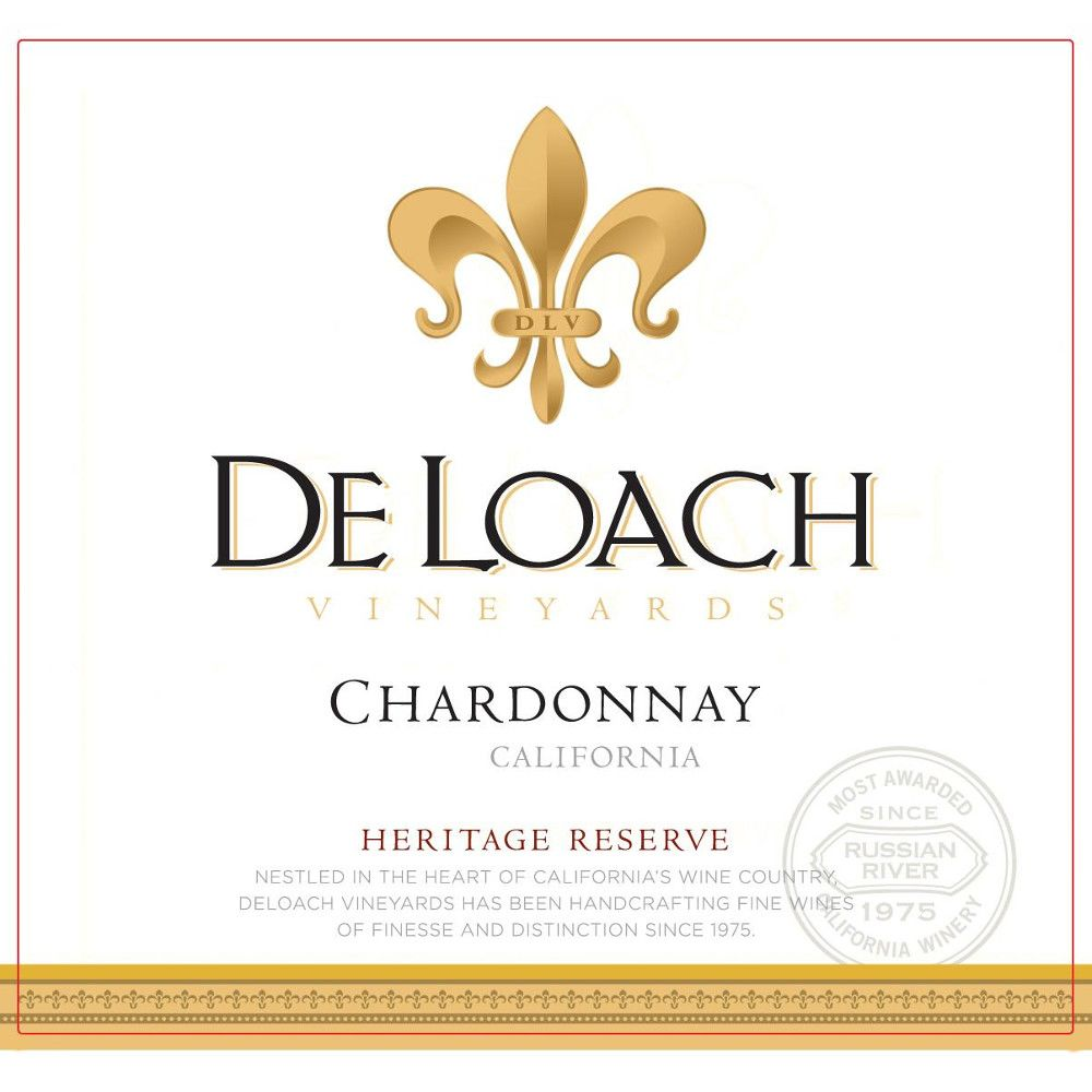 DeLoach Heritage Reserve Chardonnay 2009 Front Label