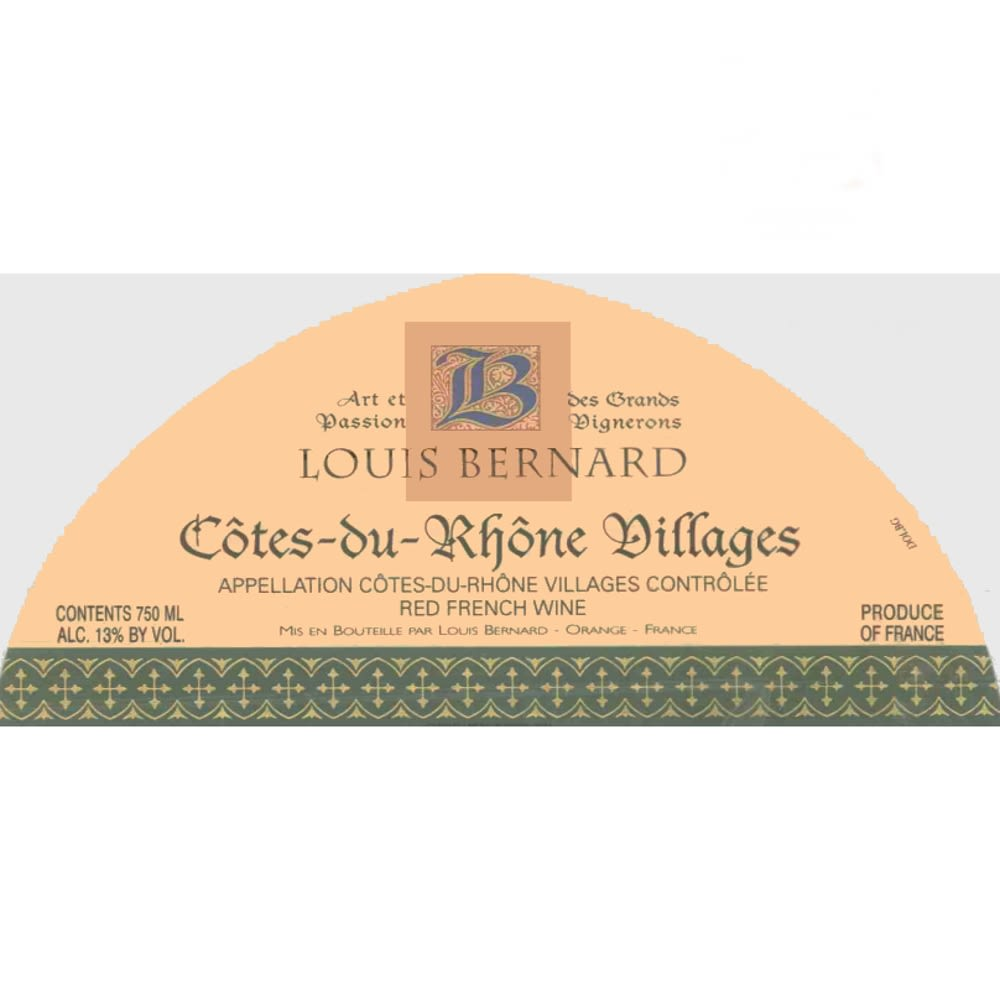 Louis Bernard Cotes du Rhone Villages 2007 Front Label