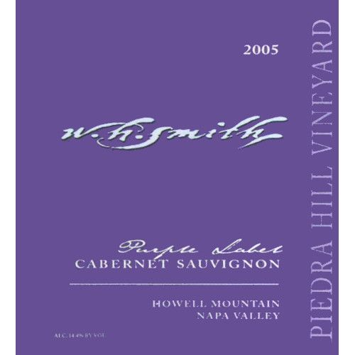 W.H. Smith Piedra Hill Cabernet Sauvignon Purple Label 2005 Front Label
