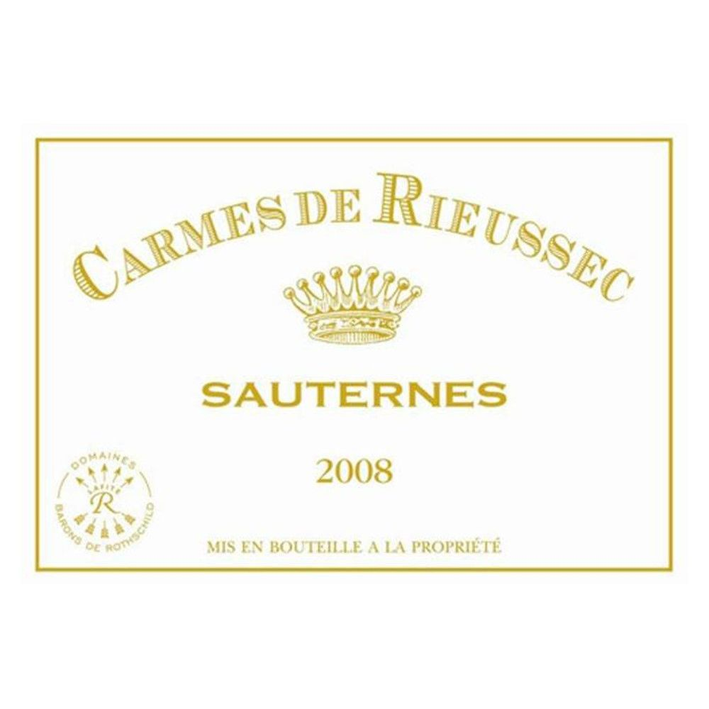 Chateau Rieussec Sauternes (375ML half-bottle) 2008 Front Label