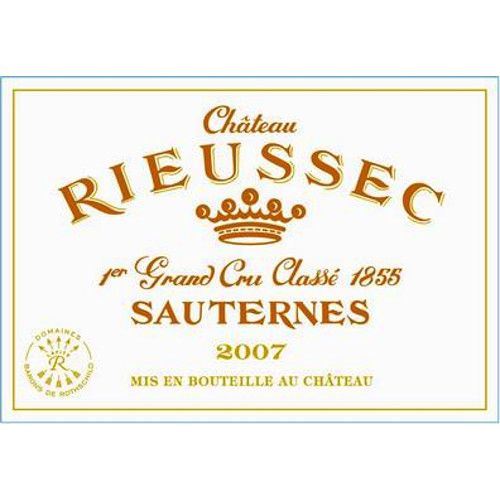 Chateau Rieussec Sauternes (375ML half-bottle) 2007 Front Label