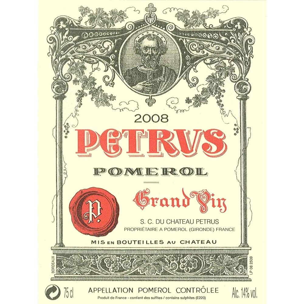 Chateau Petrus  2008 Front Label