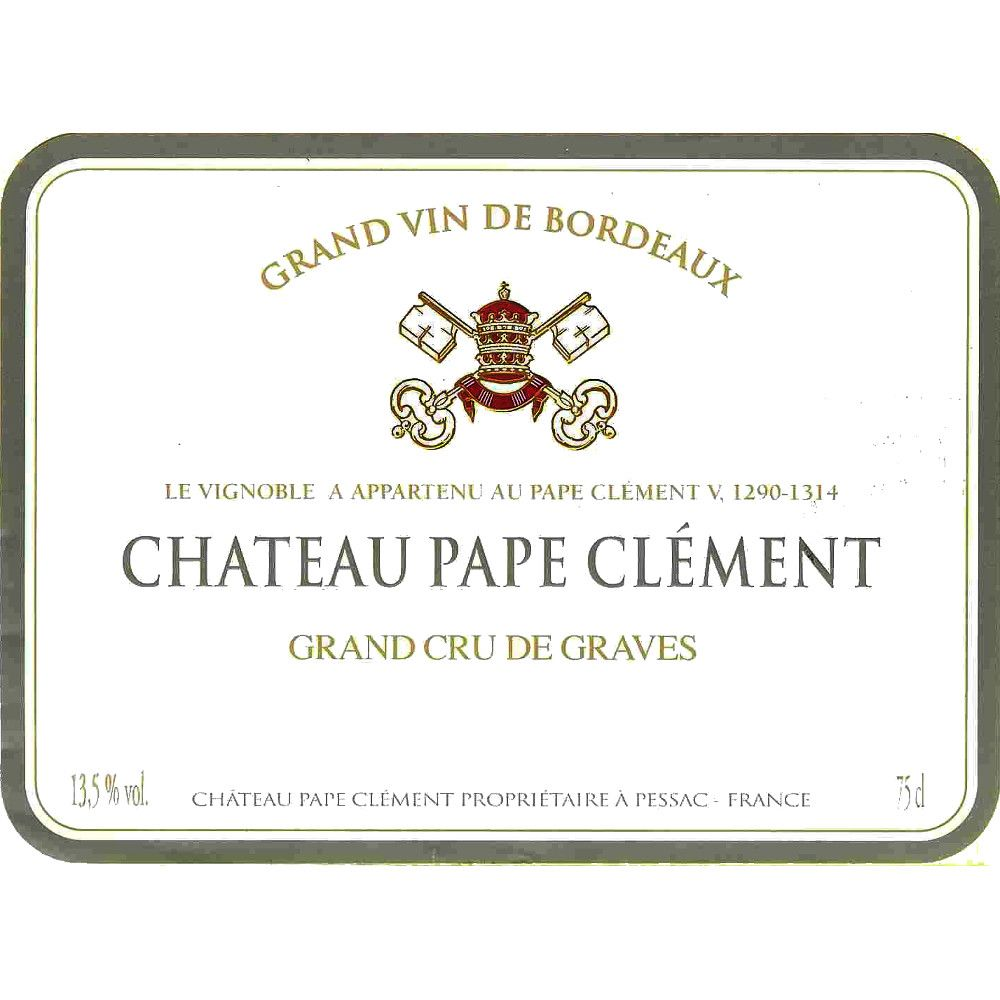 Chateau Pape Clement Blanc 2005 Front Label