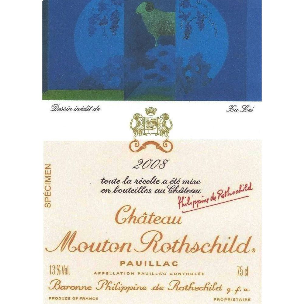 Chateau Mouton Rothschild  2008 Front Label