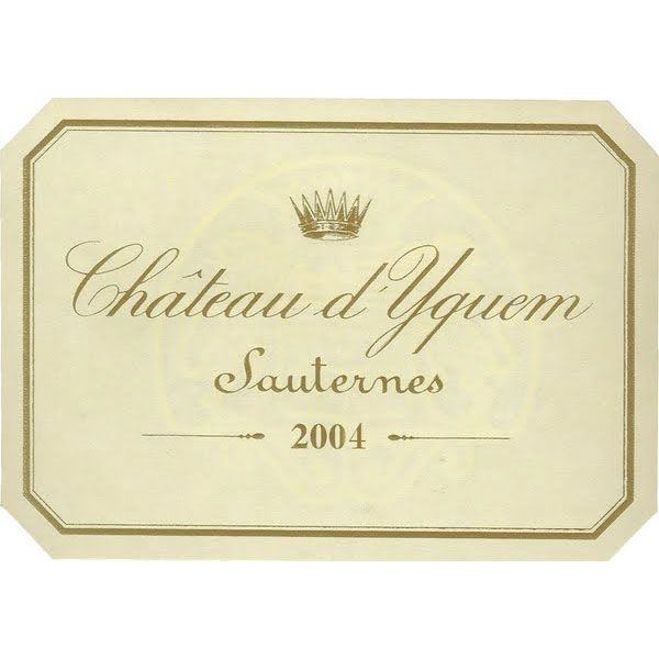 Chateau d'Yquem Sauternes (375ML half-bottle) 2004 Front Label