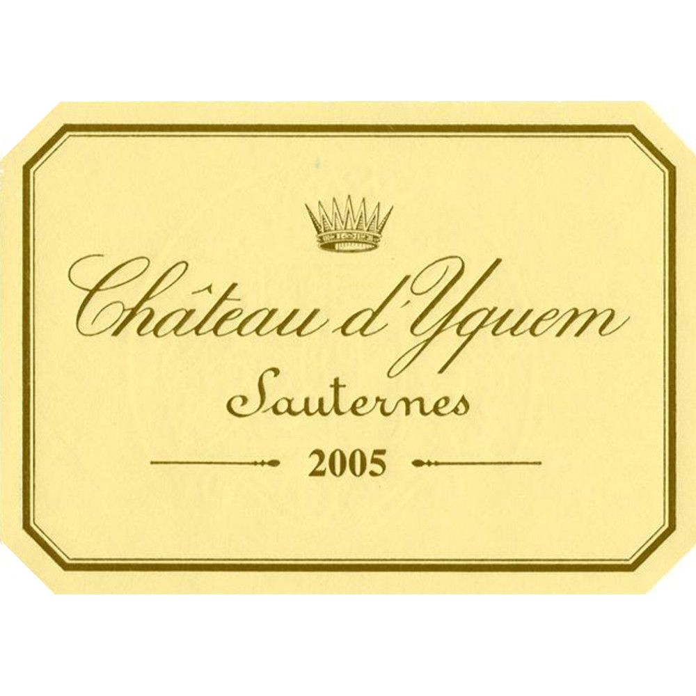 Chateau d'Yquem Sauternes (375ML half-bottle) 2005 Front Label