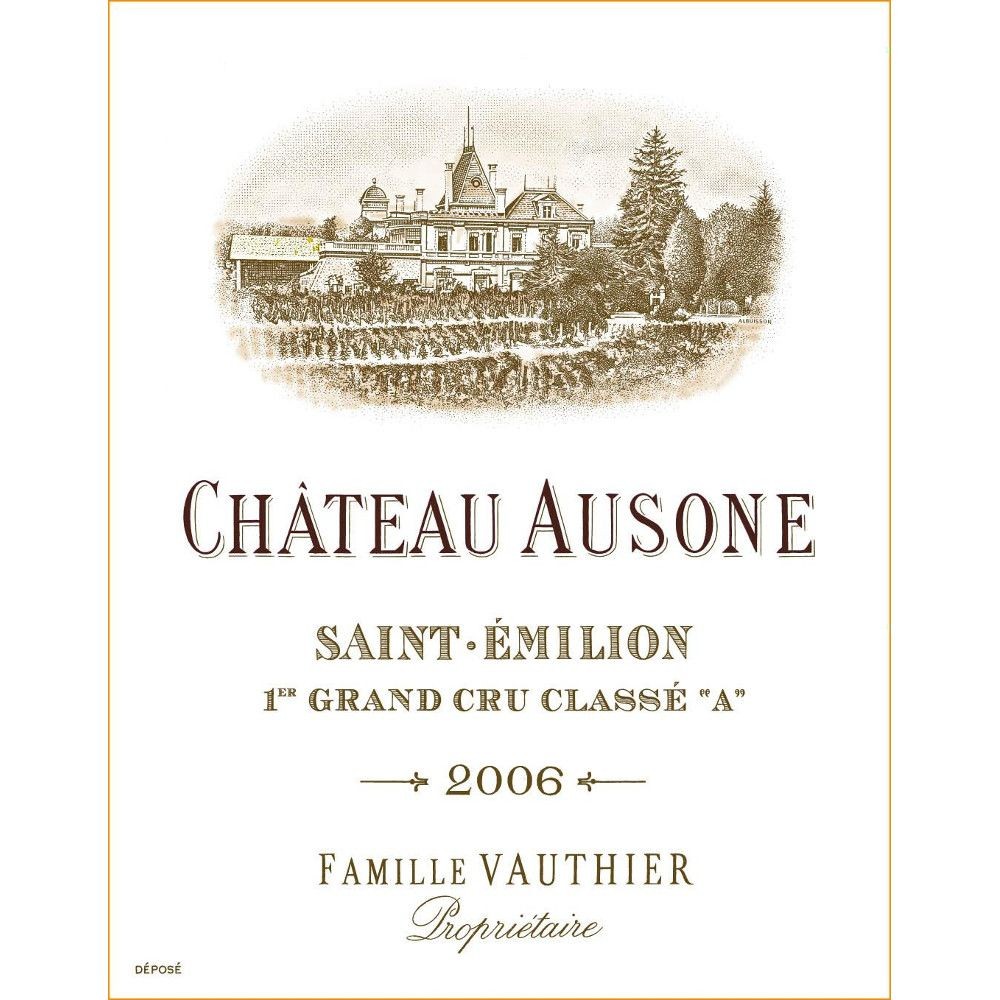 Chateau Ausone  2006 Front Label
