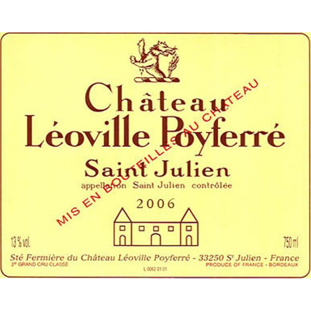 Chateau Leoville Poyferre  2006 Front Label