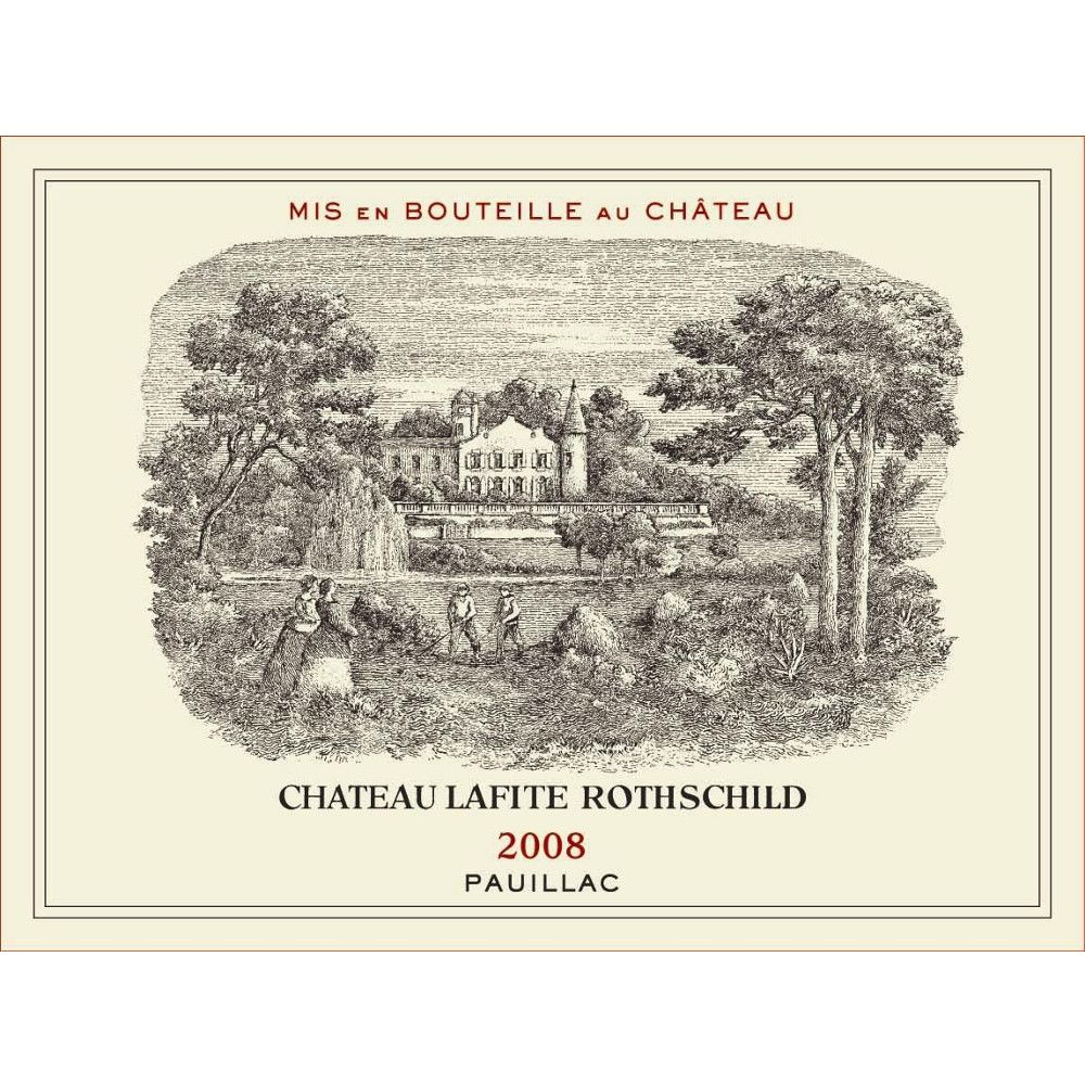 Chateau Lafite Rothschild  2008 Front Label