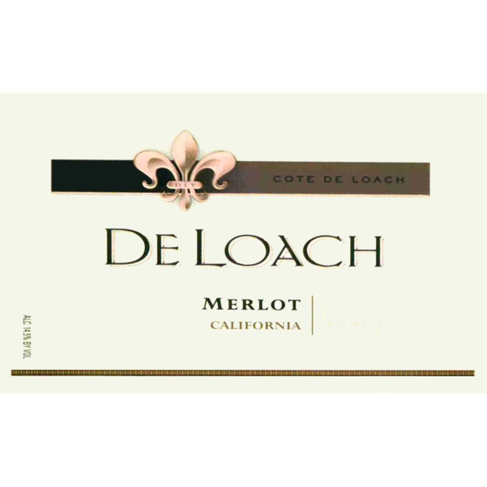 DeLoach Russian River Merlot 2006 Front Label