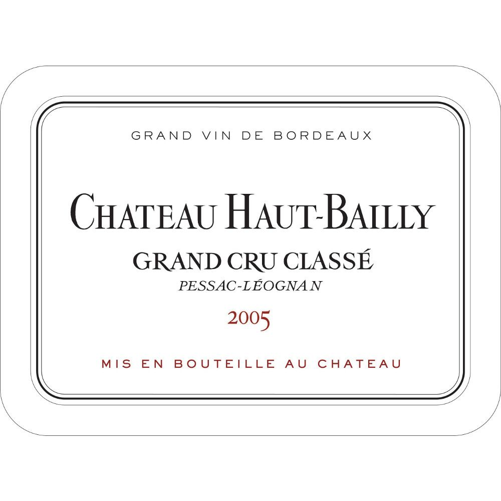 Chateau Haut-Bailly  2005 Front Label