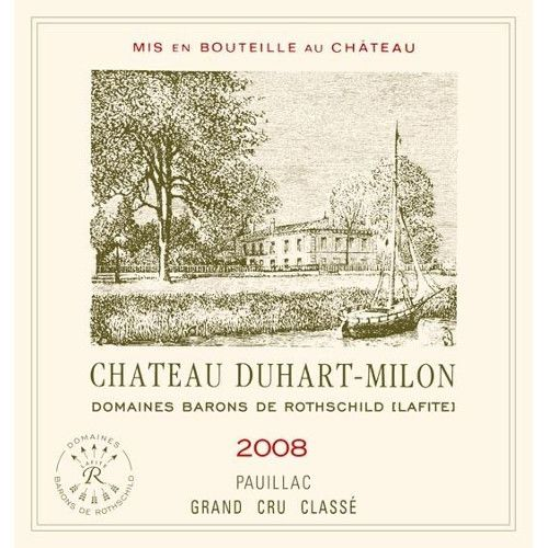 Chateau Duhart-Milon  2008 Front Label