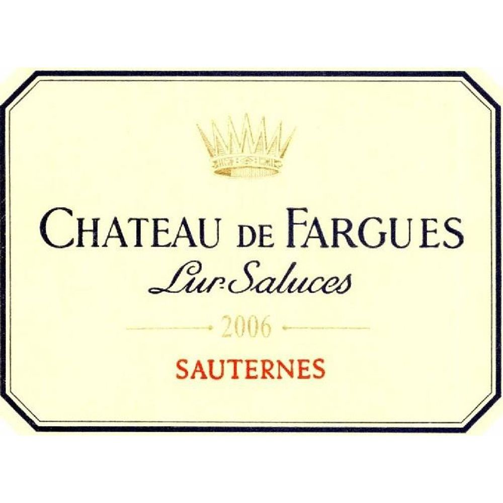 Chateau de Fargues Sauternes 2006 Front Label