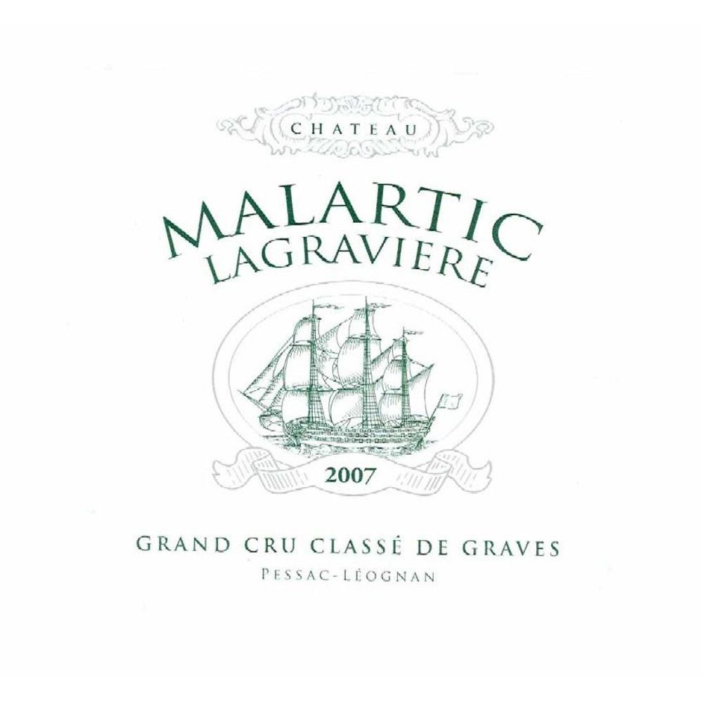 Chateau Malartic-Lagraviere Blanc 2007 Front Label