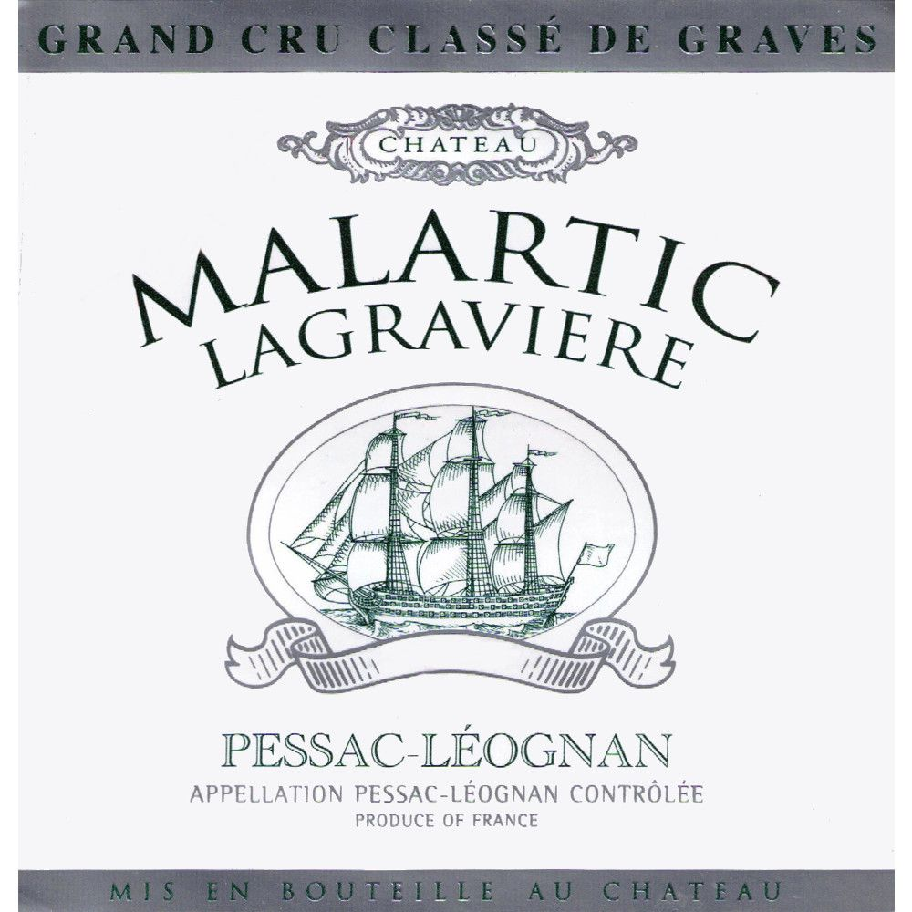 Chateau Malartic-Lagraviere Blanc 2006 Front Label