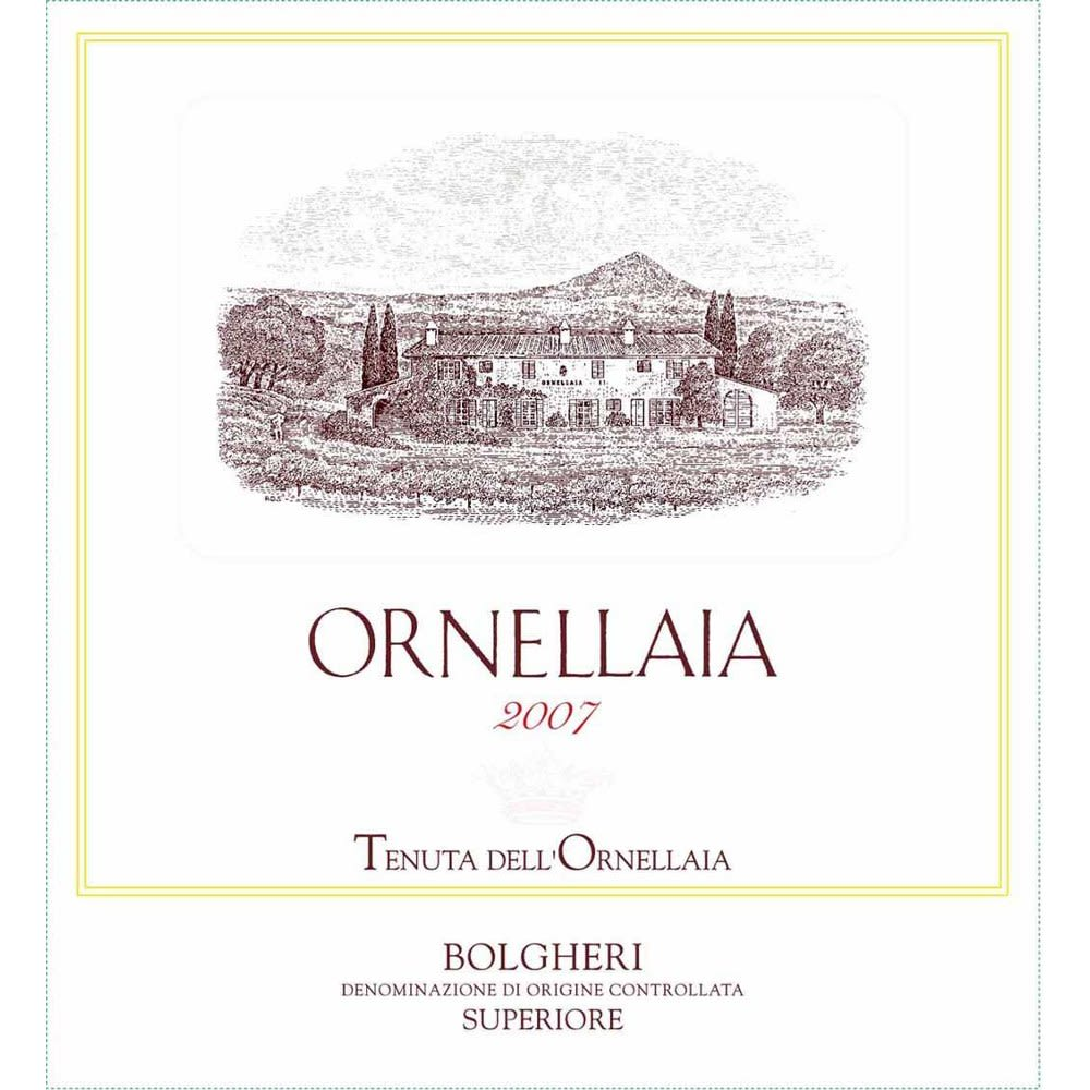 Ornellaia (slightly scuffed label) 2007 Front Label