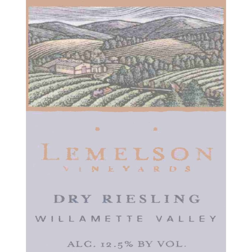 Lemelson Dry Riesling 2008 Front Label