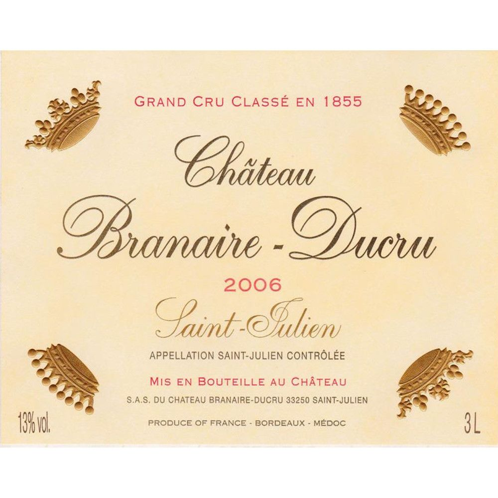 Chateau Branaire-Ducru  2006 Front Label